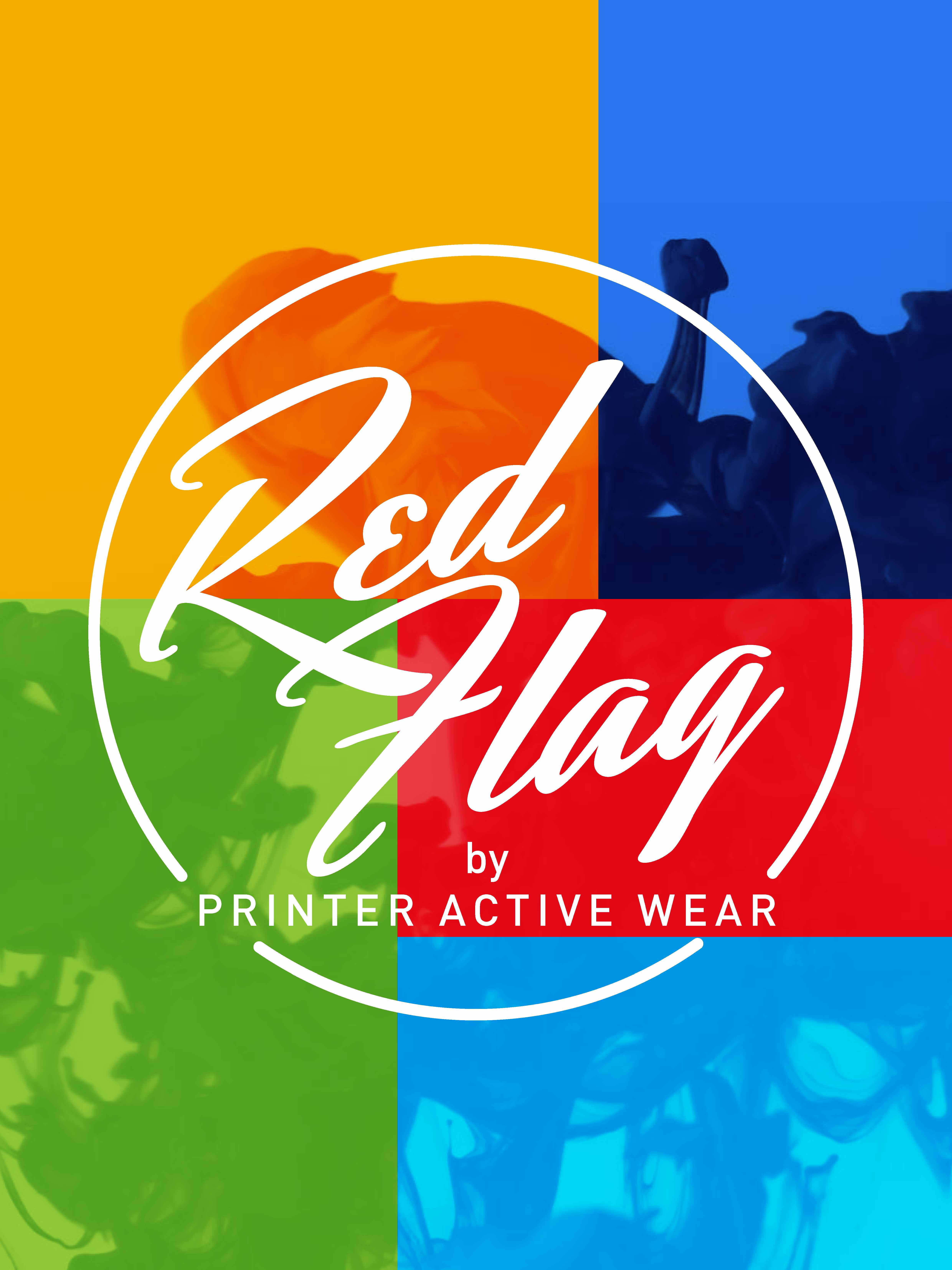 Red Flag by Printer Active Wear